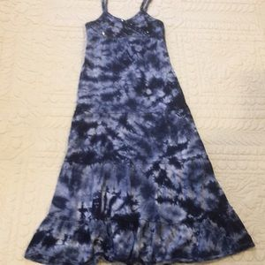 Justice Tie Dye tiered summer maxi dress size 8